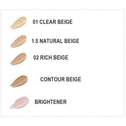 The Saem concealer shades