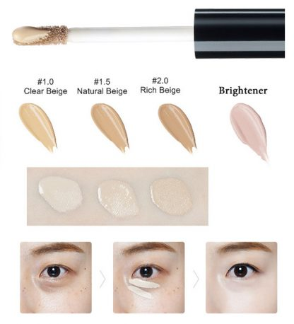 The Saem concealer swatches