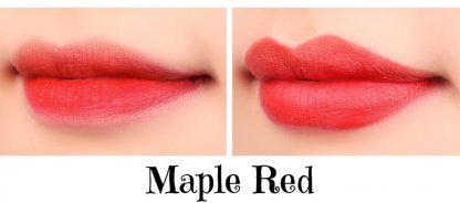 maple red lipstick